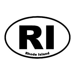 Rhode Island Ri Oval Sticker