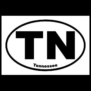Tennessee Tn Oval Sticker