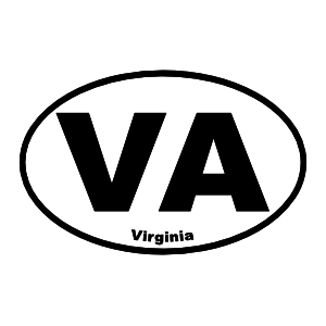 Virginia Va Oval Sticker