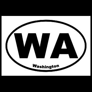 Washington Wa Oval Sticker