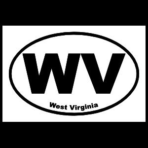 West Virginia Wv Oval Sticker