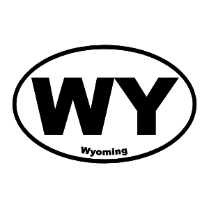 Wyoming Wy Oval Magnet