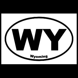 Wyoming Wy Oval Sticker