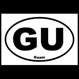 Guam Gu Oval Sticker