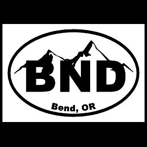 Bend Oregon Cities Oval Sticker
