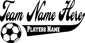 Soccer Team Name and Player Name Sticker