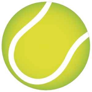 Tennis Ball Printed Full Color Sticker