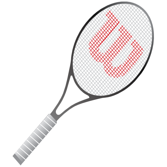 Tennis Racquet Printed Full Color Sticker
