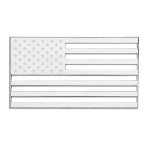 US American USA Flag 3-D Chrome Plated