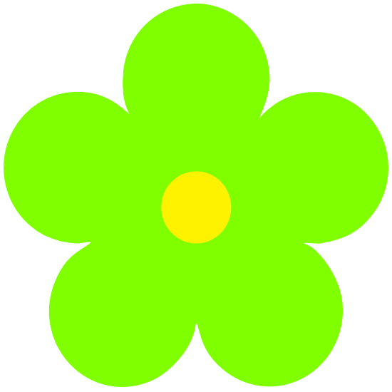 Printed Lime Green Daisy Flower Magnet