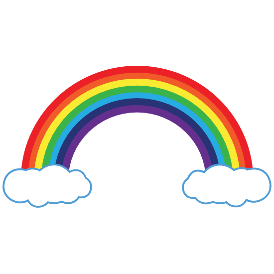 Rainbow Magnet With Clouds