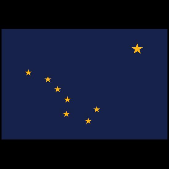 Alaska Ak State Flag Magnet