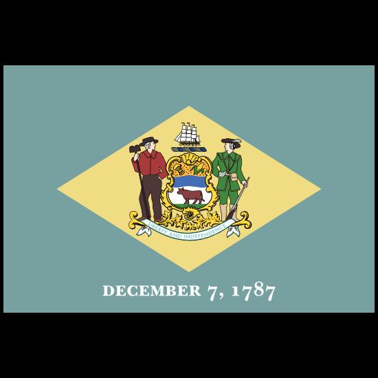 Delaware De State Flag Magnet