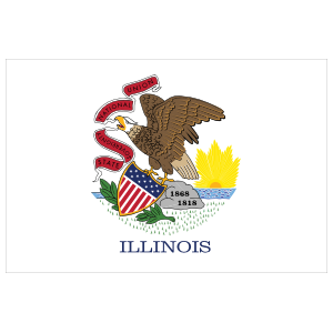 Illinois Il State Flag Magnet