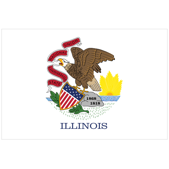 Illinois Il State Flag Magnet