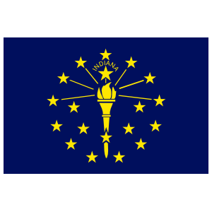 Indiana In State Flag Magnet