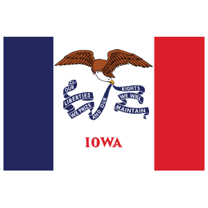 Iowa Ia State Flag Magnet