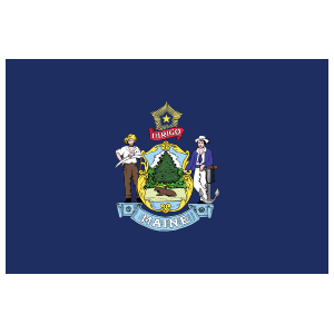 Maine Me State Flag Magnet