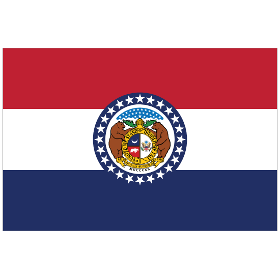 Missouri Mo State Flag Magnet