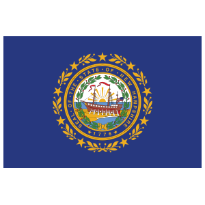 New Hampshire Nh State Flag Magnet