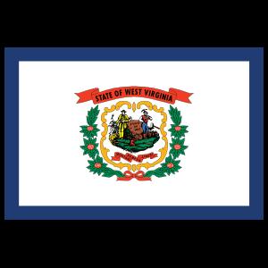 West Virginia Wv State Flag Magnet