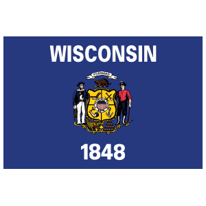 Wisconsin Wi State Flag Magnet