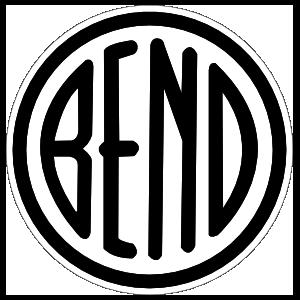 Bend Oregon City Circle Sticker