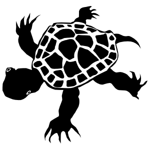 Turtle With Long Toes Sticker