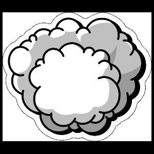 Cloud Comic Sticker