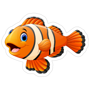 Clown Fish Sticker