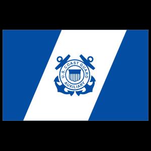 Coast Guard Auxiliary Flag Sticker