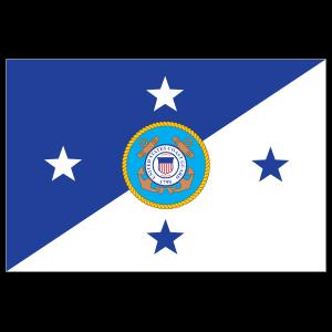 Coast Guard Commandant Flag Sticker