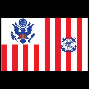 Coast Guard Ensign Sticker