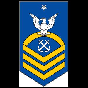 Coast Guard Rank E-8 Senior Chief Petty Officer Sticker