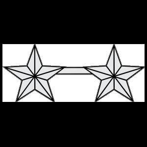 Coast Guard Rank O-8 Rear Admiral Sticker