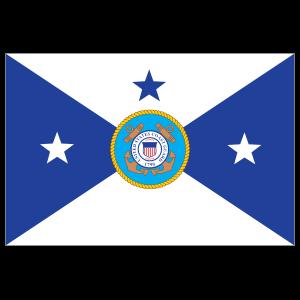 Coast Guard Vice Commandant Flag Sticker