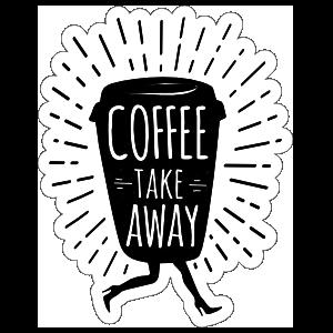 Coffee Take Away Sticker