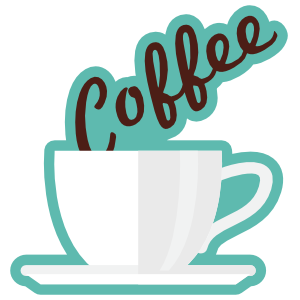 Coffee Text in Mug Sticker