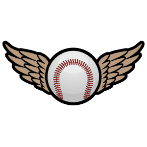 Color Baseball or Softball with Wings Magnet
