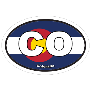 Colorado Co State Flag Oval Magnet