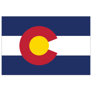 Colorado Co State Flag Magnet