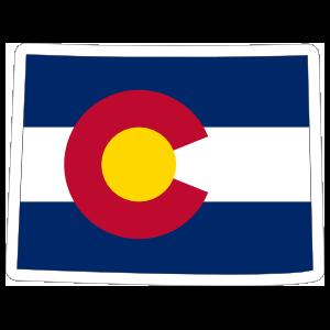 Colorado Flag State Sticker