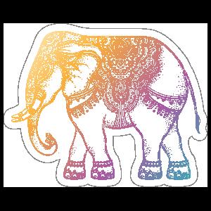 Colorful Elephant Boho Sticker