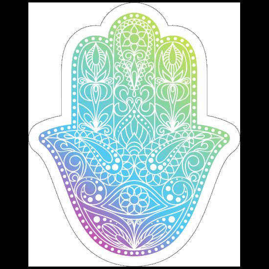Colorful Hamsa Boho Sticker