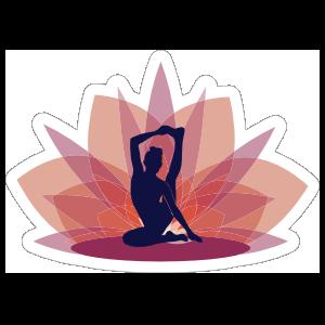 Compass Pose Yoga Lotus Sticker