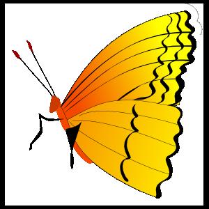 Cool Butterfly Profile Sticker