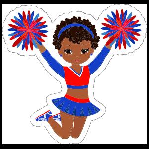 Cool Cheerleading Sticker
