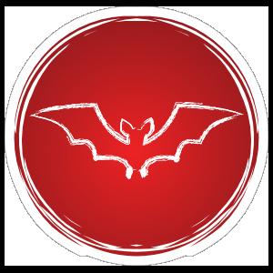 Cool Circle Bat Sticker