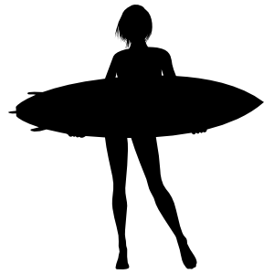 Cool Girl Surfing Sticker