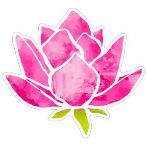Cool Pink Lotus Flower Sticker